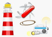 Set of Survival Icons for Beacon Survival